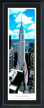 10 x 30 panoramic frame building panoramas print with deluxe frame and double mat panoramic photo