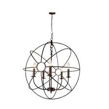 infinity 5 light rustic bronze mini chandelier