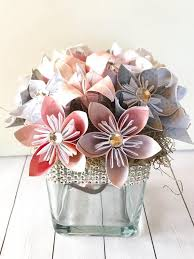 Paper Flower Wedding Centerpieces Small Origami Paper Floral Wedding Centerpiece Kusudama Artificial Paper Flowers Mothers Day