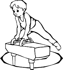 Small Picture Easy Coloring Pages For Kids Gymnastics Sport Coloring pages of