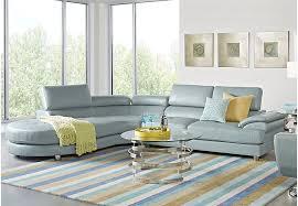 Sofia Vergara Cassinella Hydra 6 Pc Sectional Living Room   Sets Blue Sofia Vergara Furniture G32