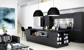 Reproduction Kitchen Appliances Contemporary Kitchen New Elegant Black Kitchen Design For Remodel
