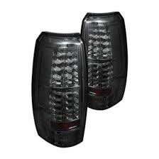 2007 chevy avalanche custom factory tail lights carid com spyder® black smoke led tail lights