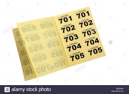 Raffle Ticket Booklets Book Tickets Stock Photos Book Tickets Stock Images Alamy