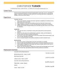 Template For Resume Customer Service Representative Cv Template Cv