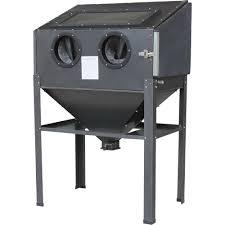 Sand Blaster Cabinet Shop Tuff Floor Cabinet Abrasive Blaster 40 Lb Capacity Model