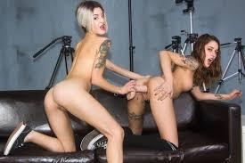 Stepdaughter Nicole Love and secretary Bella Scaris in taboo FFM.