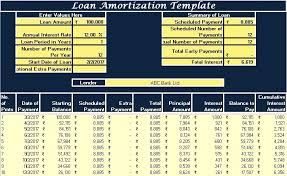 Loan Calculation Template Download Loan Amortization Excel Template Exceldatapro