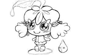梅雨のオリジナルイラストポップでかわいい紫陽花のキャラクター