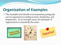 example essay 8 organization of examples