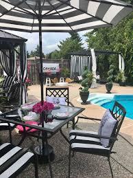 Black And White Patio Design Ideas Black White Patio In 2019 Backyard Patio Outdoor Pergola