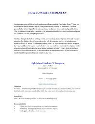 How To Write A Student Resume Impressive How 28 Make Resume How Make A Curriculum Vitae For Students Write