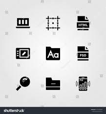 Web Design Icon Psd Web Design Vector Icon Set Psd Stock Vector Royalty Free