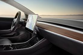 the interior of the model 3