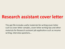research assistant cover letter this ppt file includes useful materials for writing cover letter such as research job cover letter
