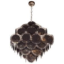 ultra chic modernist diamond shaped black murano glass chandelier by vistosi for at 1stdibs