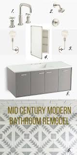 Mid Century Modern Bathroom Remodel Inspiration Pretty Prudent