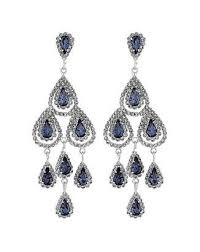 at fashion world jon richard mood by mood blue teardrop chandelier earring