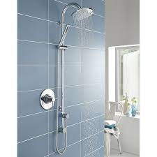 hudson reed tec dual concealed shower mixer with shower kit fixed head chrome