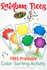 When we were a whole lot younger than we are right now, we always enjoyed coloring on coloring books. Rainbow Trees Color Sorting Activity Your Preschoolers Will Love