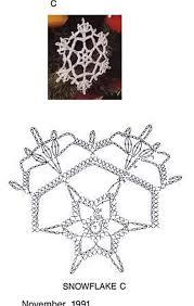 Crochet Snowflake Pattern Chart Crochet Snowflake Chart Pattern Crochet Handarbeit