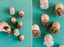 Easy No Dye Easter Egg Decorations How To Make A Bearded Easter Egg