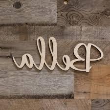 script wood letters