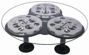 Small Picture Triple Film Reel Coffee Table Home Theater Decor eBay