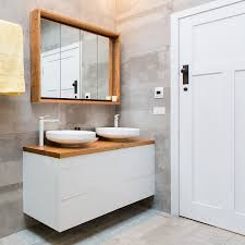 recycled timber top vanity bench desk the block bathroom cabinet