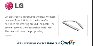 lg infinim 920. lg electronics news: the headset-necklace tone infinim hbs-920 provides a rich sound lg 920