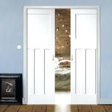 pocket glass door double pocket primed panel door sliding glass door hardware lock