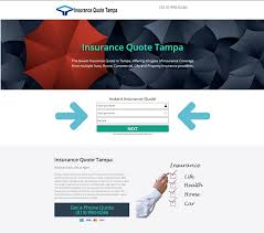 insurance quote web screen