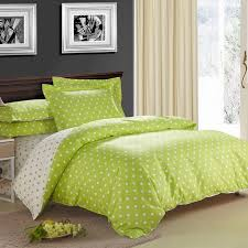 bright green bed sheets