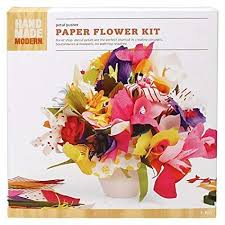 Paper Flower Kit Amazon Com Hand Made Modern Paper Flower Kit
