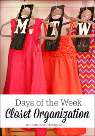 days of the week closet organizers ease school morning stress with these functional and adorable