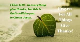Image result for photo give thanks for all things