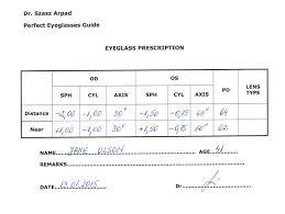 Eyeglass Prescription Understand All The Parameters