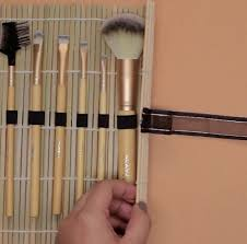 create tie make your own makeup brush organizer super simple diy