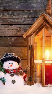 Merry Christmas, snow, snowman, candles ...