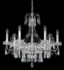 schonbek ek6507n 401s ekaterina 7 light crystal chandelier in stainless steel with crystal from swarovski