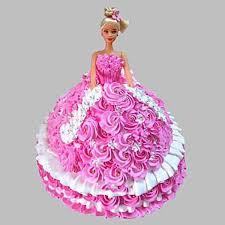 Sweet Barbie Doll Cake Barbie Birthday Cake Order Online Swefla