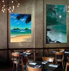 restaurant wall art tropical beach paintings hawaii paintings tropical art tropical beach