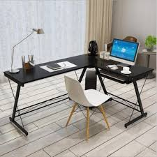 Wood and metal computer desk Shaped Modern Lshaped Desk Corner Computer Desk Pc Laptop Study Table Home Office Wood Walmart Modern Lshaped Desk Corner Computer Desk Pc Laptop Study Table Home