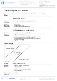 Free Confined Space Rescue Plan Template Checklist And