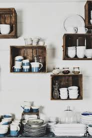 Empty Kitchen Wall Love The Boxes Great Way To Clear Up Cabinets And Use Dishes To