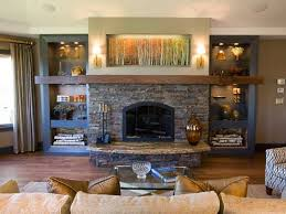 see more stone surround fireplace with built ins ideas