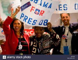 Obama supporters, Darolyn Davis, Linda Crayton, and Clementine Clark Stock  Photo - Alamy