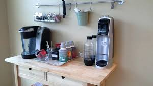 coffee bar for office. Coffee Bar Cabinet Wall Office Commercial For Interesting With Wooden Table Grey Corner Cabinetry Home
