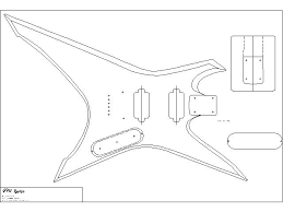 xiphos chitarre body template and templates body template woodworking guitar templates