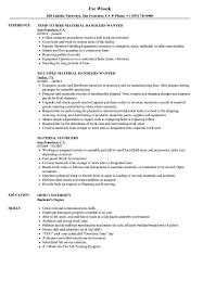 Material Handler Resume Sample Material Handlers Resume Samples Velvet Jobs 2